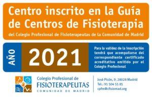 Certificado del Colegio Profesional de Fisioterapeutas